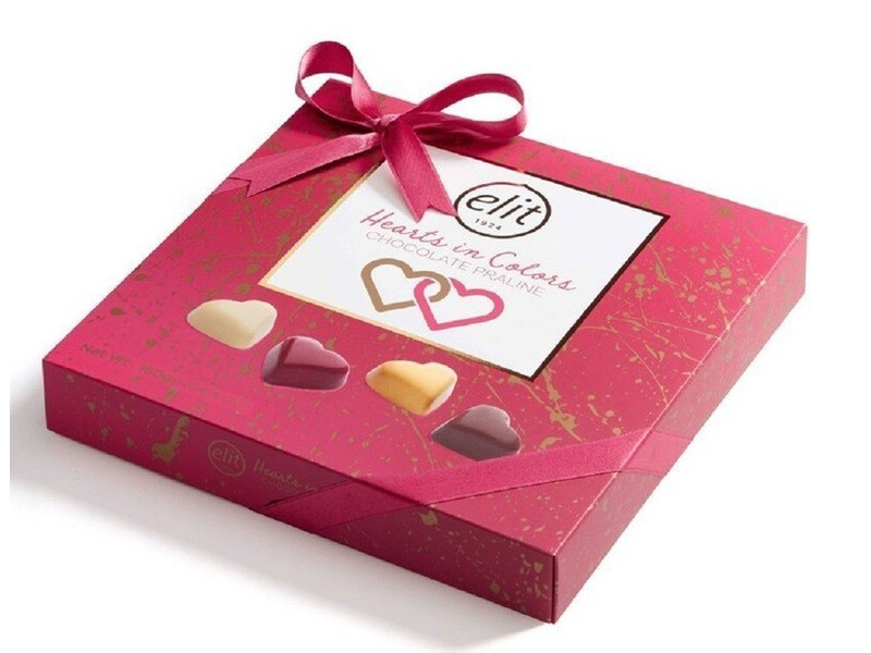 Конфеты Elit 1924 Hearts of color chocolate Pralines 160 гр Турция